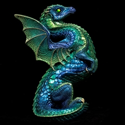 Rising Spectral Windstone Editions Emerald Peacock  Dragon