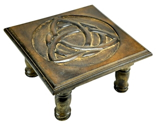 Triquetra, Om or Knotwork Rustic Altar Table Triquetra, Om or Knotwork Rustic Altar Table