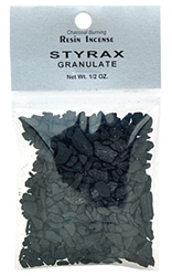 STYRAX GRANULATE RESIN INCENSE - 1/2 OZ.