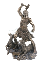 Thor Norse God Of Thunder Statue