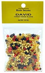 THREE KINGS DAVID RESIN INCENSE - 1/2 OZ.