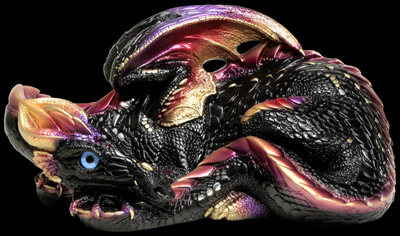 Windstone Editions Black/ Gold Mother Dragon