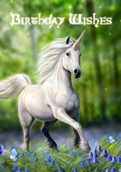 Unicorn Anne Stokes Birthday Card