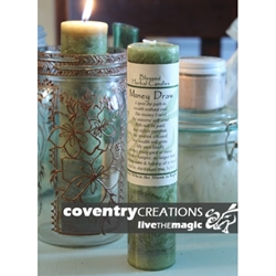 Money Drawing Blessed Herbal Spell Candle