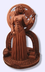 "Brigit Candle Statue 11 1/2"" By Mickie Mueller"