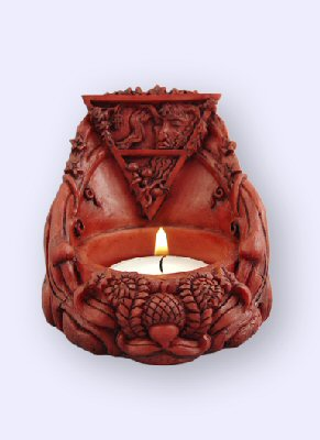Mickie Mueller Earth Element Altar Piece votive candleholder